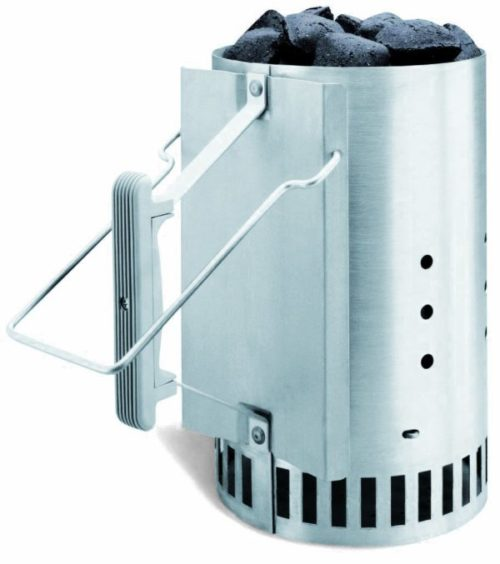 weber rapidfire charcoal chimney unboxed