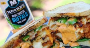 buffalo chicken sandwich with moose's blue cheese buffalo wing sauce