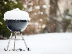 Grill Covered in Snow