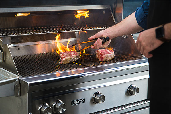 Grilling Steaks on Gas Grill