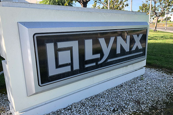 sign at lynx factory