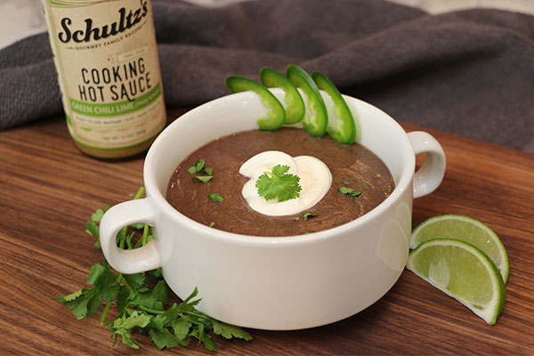 Black Bean and Cilantro Lime Soup Mexican food, authentic Mexican cuisine