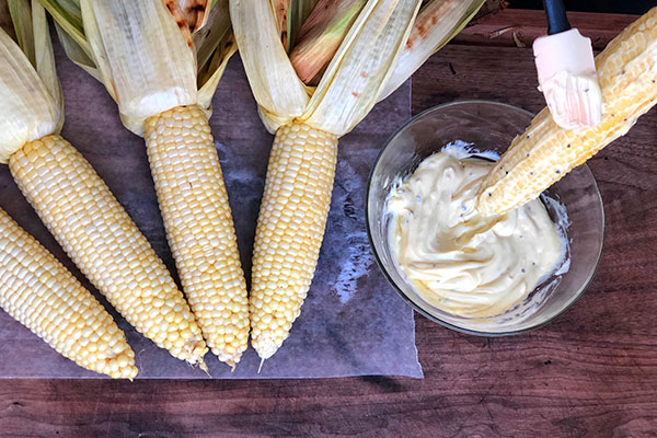 step 3 of grilled mexican street corn recipe