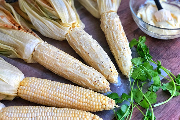 step 4 of grilled mexican street corn recipe