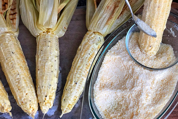 step 6 of grilled mexican street corn recipe