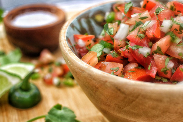 Completed pico de gallo recipe