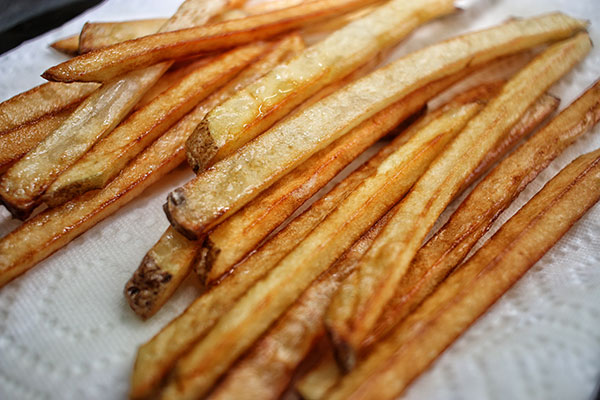 french fries for bbq sandwich