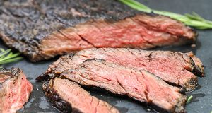 Grilled ribeye cap steak ready for serving