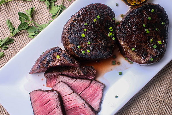 cooked sous vide filet mignon