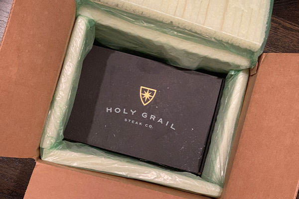 Holy Grail Steak Company packaged meat