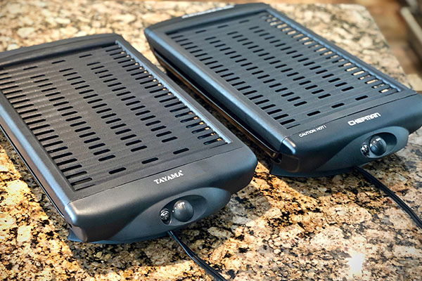 Tayama Electric Grill compared to Cheman Grill ready to use