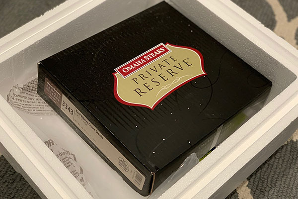 Review: Private Reserve steaks from Omaha Steaks, shipped to your door.