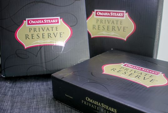 Omaha Steaks' Private Reserve boxes