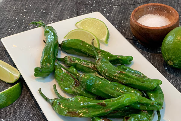 Blistered Shishito Peppers from Grillseeker cookbook