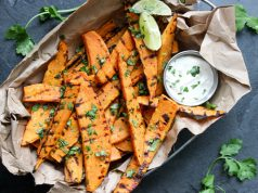 cilantro lime grilled sweet potatoes from Grillseeker cookbook