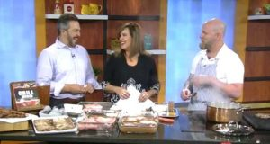 Matt brining pork chops on Morning Blend