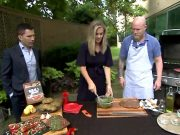 Matt and Morgan preparing chimichurri on the WGN9 Morning News