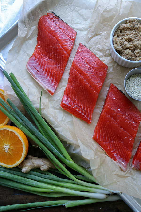ingredients for Sweet n Sour salmon recipe
