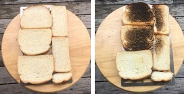 Bread test with the Beefer Grill