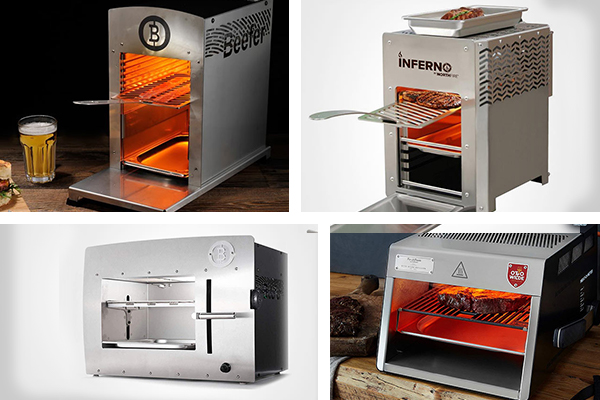 Infrared Grill Showdown featuring the Beefer, the Inferno, the Otto Wilde, and the Beefer XL