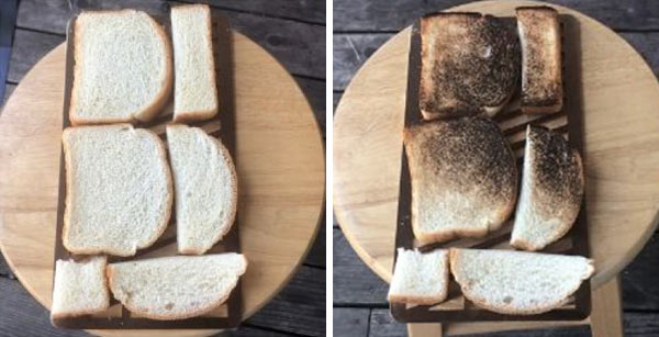 Bread test with the Inferno Grill