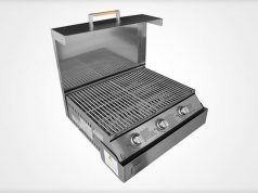 Space Grill fold down grill