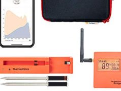The MeatStick Thermometer, case, app, and control