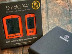 ThermoWorks Smoke X4 thermometer and case