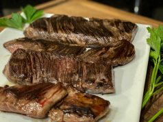 Perfectly cooked skirt steak
