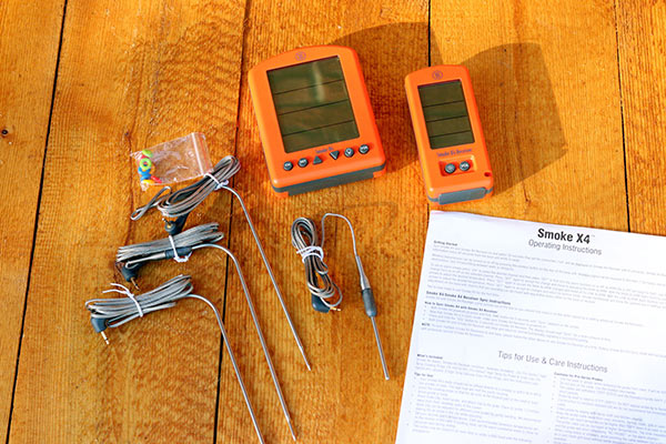 ThermoWorks Smoke X4 leave-in thermometer with probes