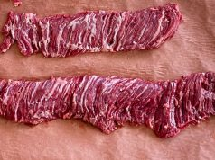 Raw inside and outside skirt steak