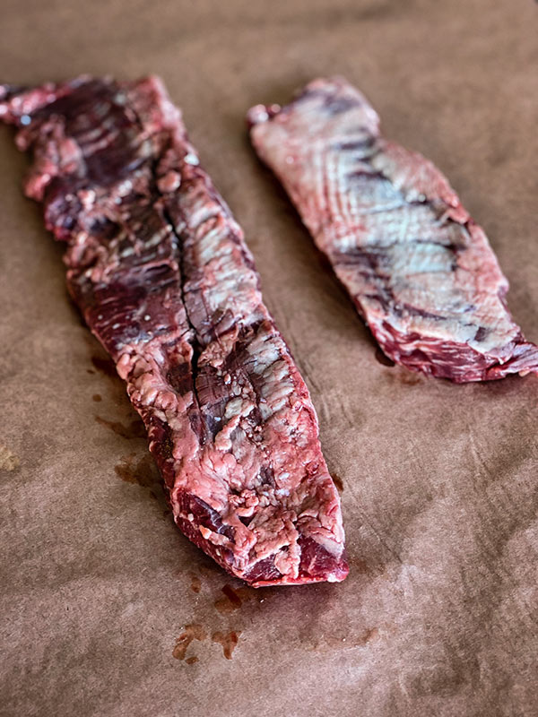 Differences between inside and outside skirt steak