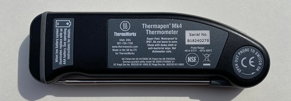 ThermoWorks Thermapen MK4 specs