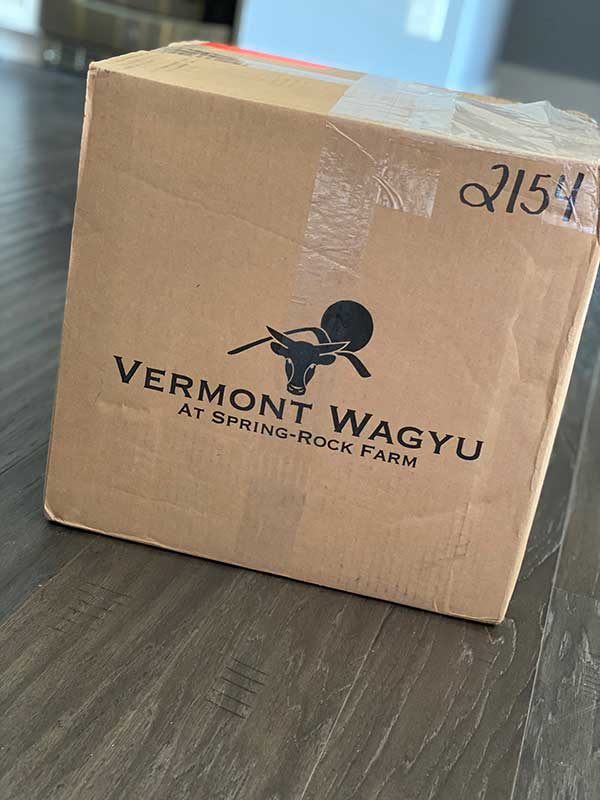 Vermont Wagyu delivery box
