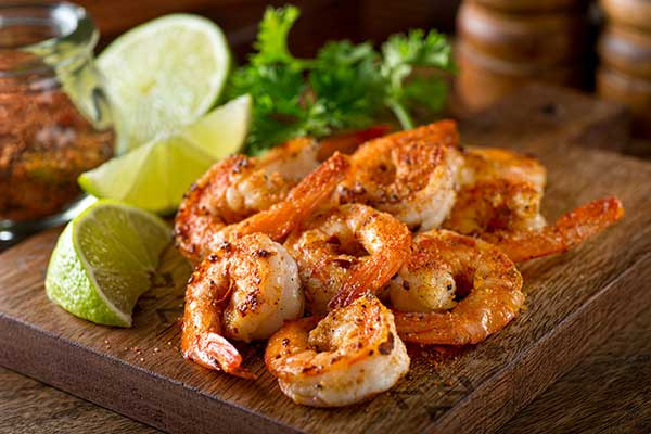 Creole Seasoning on shrimp