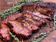 Smoked Beef Chuck Roast sliced and ready to serve