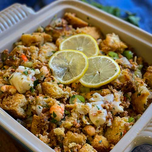 Lobster and Chorizo Stuffing