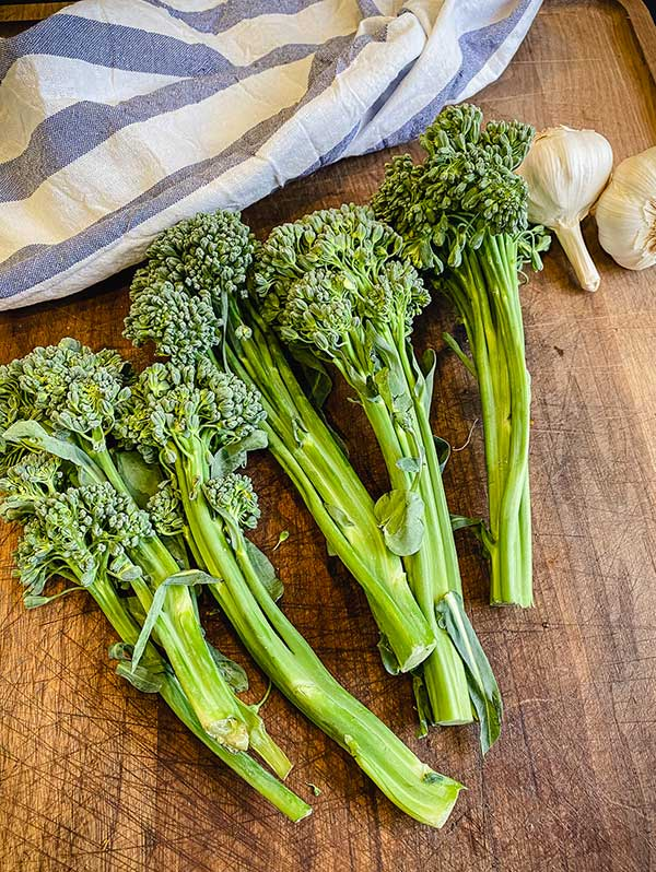 broccolini with thick bottomed stalks